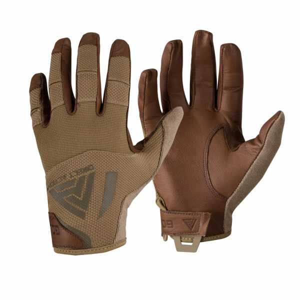 Direct Action Hard Leather Gloves coyote-brown