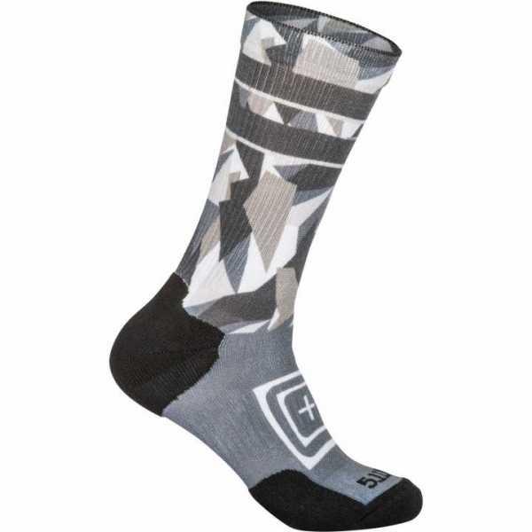 Sock & Awe Crew - Dazzle grey