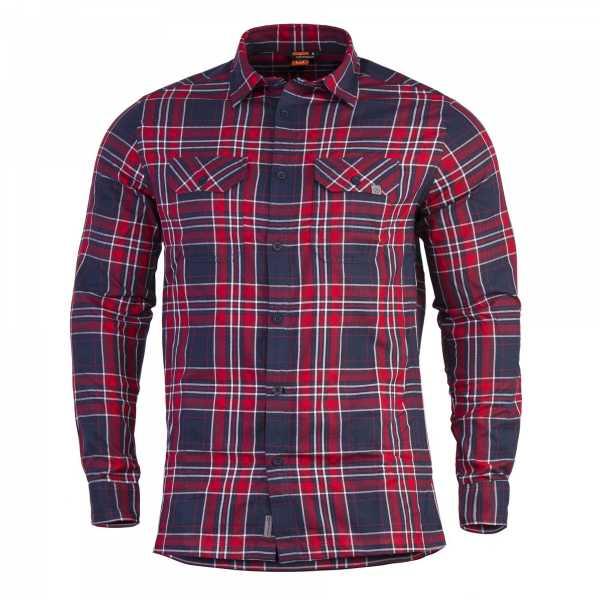 Pentagon Drifter Flannel Shirt rot kariert