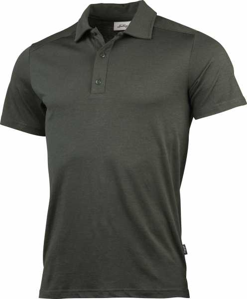 Lundhags Gimmer Merino Lt Polo Ms Tee, Forest Green