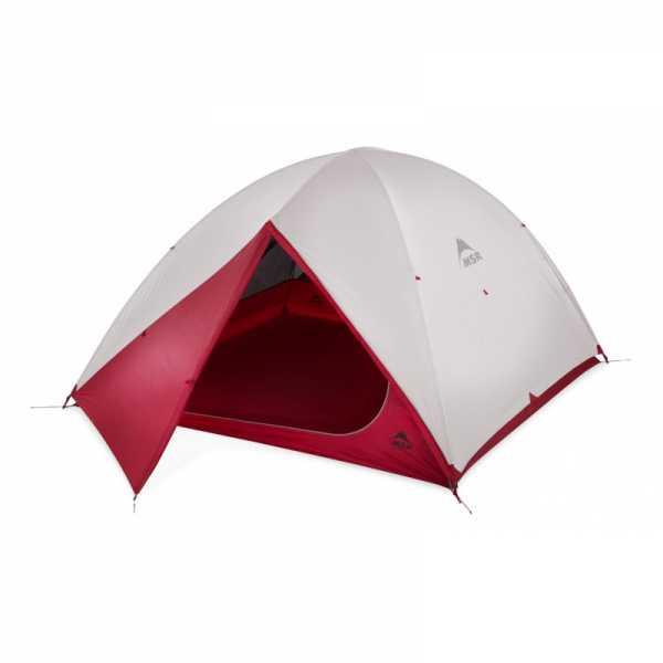 MSR Zoic 4 Zelt für Rucksackwanderungen grau
