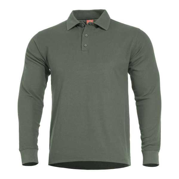 Pentagon Aniketos Long Polo Shirt camo grün