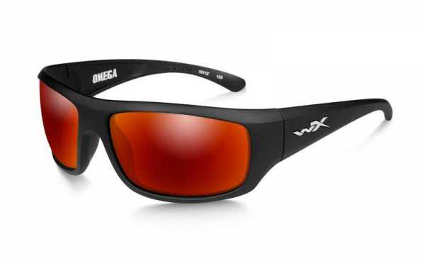 WX Omega Polarized Crimson Mirror Matte Black Frame