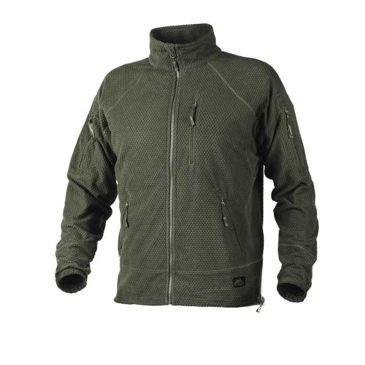 Alpha Tactical Jacket olive Grid Fleece