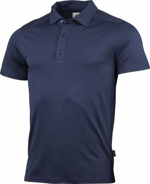 Lundhags Gimmer Merino Lt Polo Ms Tee, navy