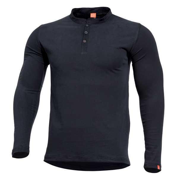 Pentagon Romeo Henley Shirt schwarz