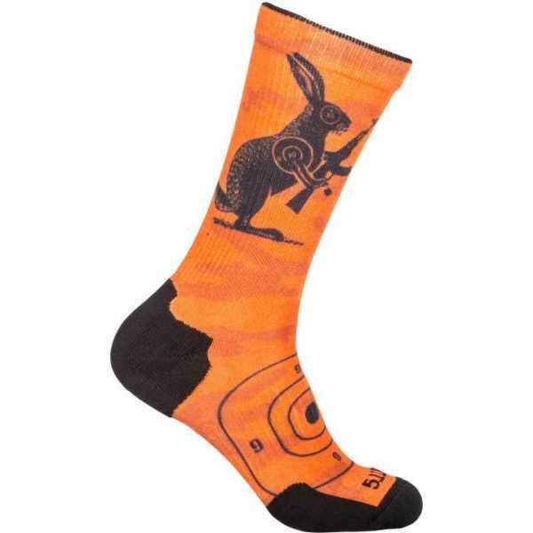 Sock & Awe Crew - Animal orange