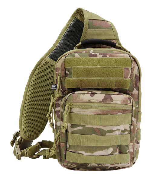 Brandit US Cooper Large Rucksack MOLLE Military EDC Backpack Bag 40L Grey Camo