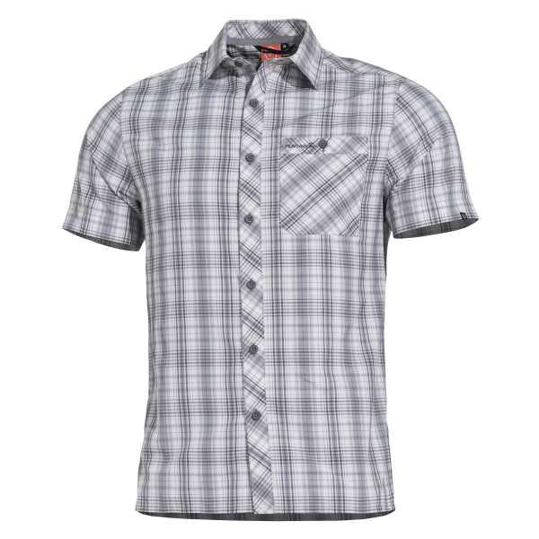 Pentagon Scout kurzarm Shirt grau kariert