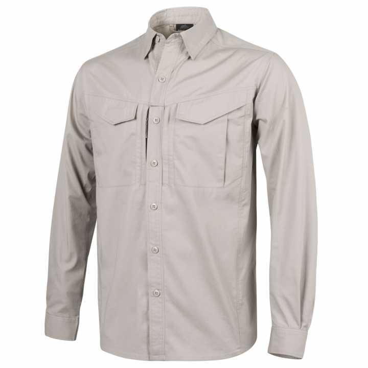 Helikon Defender Mk2 Long Sleeve Shirt Patrol Tactical Army Mens Olive Green